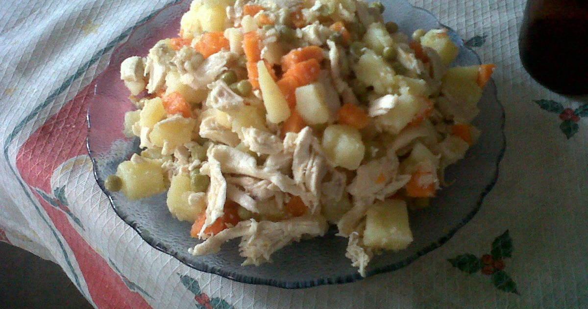 Ensalada de pollo papas y zanahoria receta de maleh cookpad - Ensalada de zanahorias ...