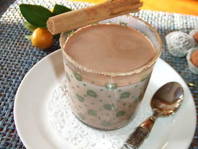 Chocolate caliente al aroma de ron