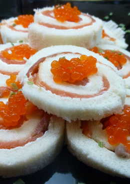 Canapes frios 56 recetas caseras cookpad for Canape de salmon
