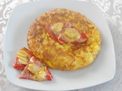 Tortilla de patatas y jamón serrano