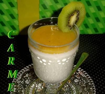 Panna cotta de coco y kiwi