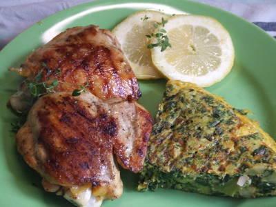 Pollo con limón y ajo