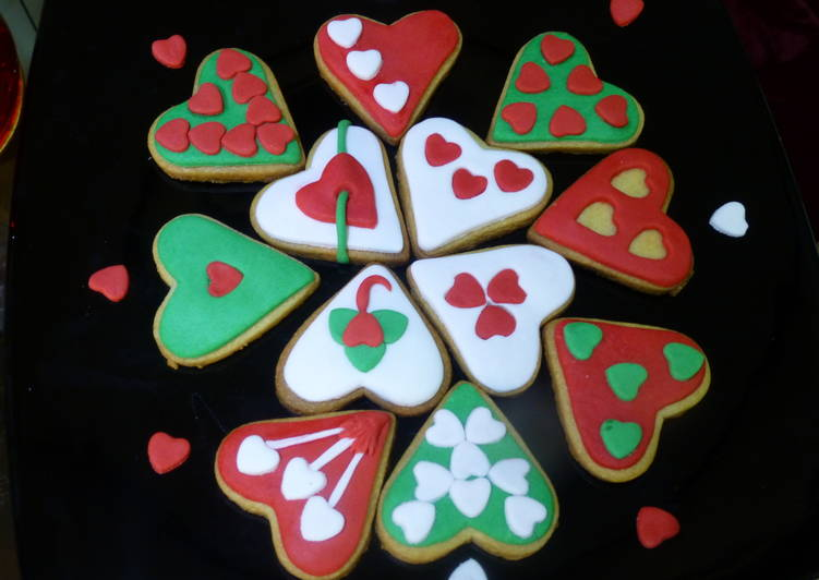 Galletas De Mantequilla Decoradas Para San Valentín Receta