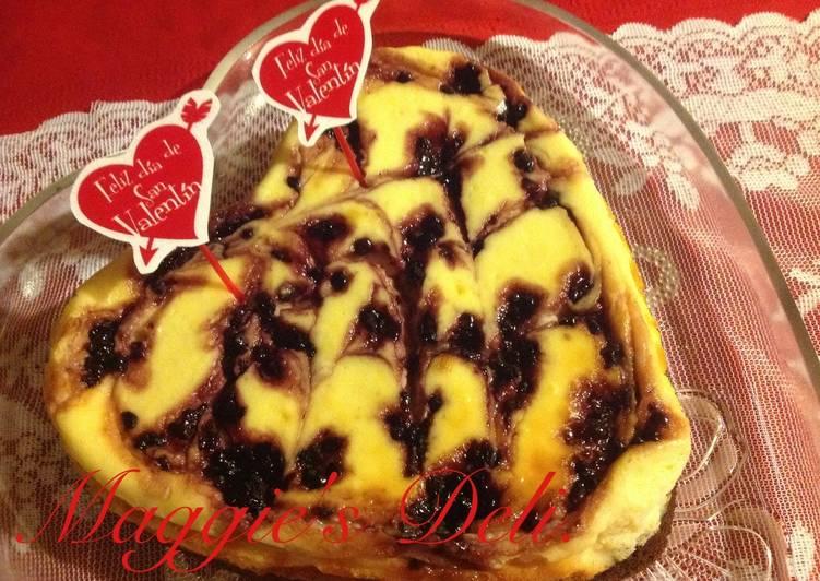 Cheesecake brownie y moras