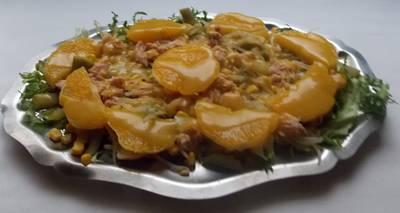 Ensalada de verduras y fruta