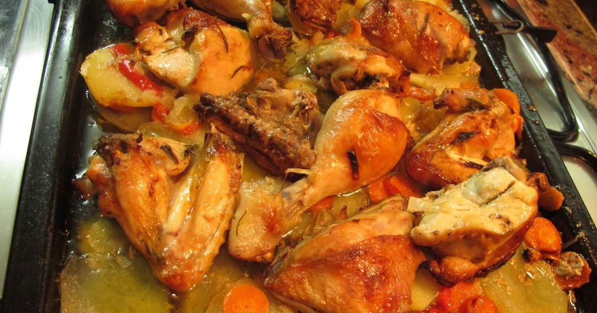 Pollo al horno con patata y zanahoria 19 recetas caseras - Pollo al horno con limon y patatas ...