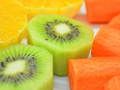 Zumo de naranja kiwi y zanahoria