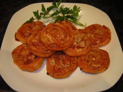Caracolas saladas sobrasada