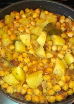 Potaje de garbanzos con patata