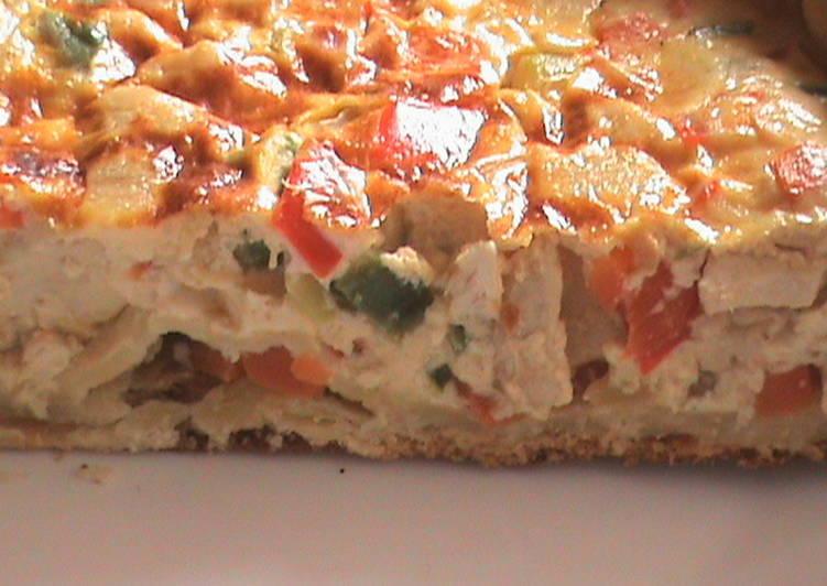 Quiche de pollo con verduras receta de ladulceespiga cookpad for Quiche de verduras facil