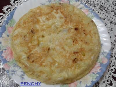 Tortilla de patatas con puerros