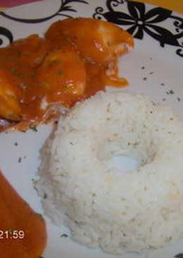 Chipirones rellenados de gambas y arroz