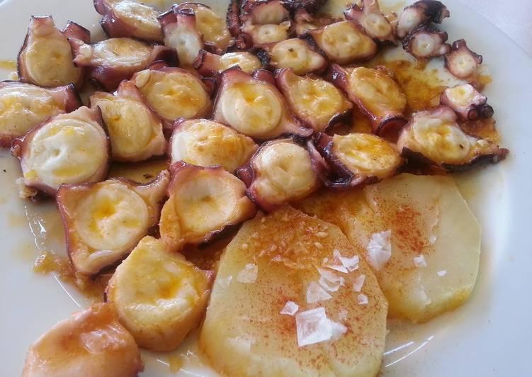 Pulpo con patatines