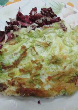 Omelette de endibias con jamón