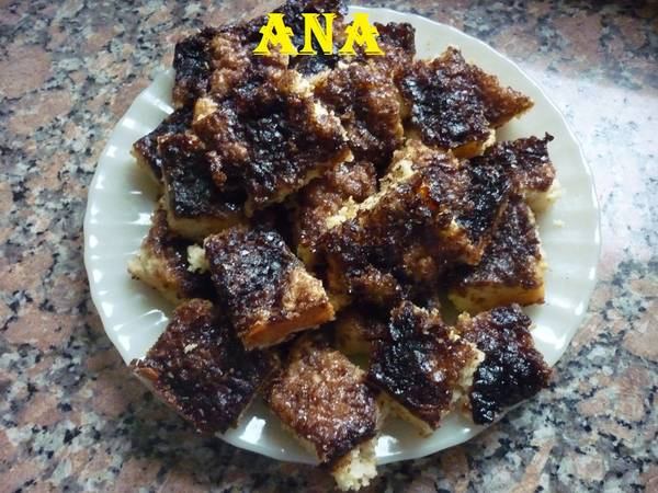 Torta de azúcar negra