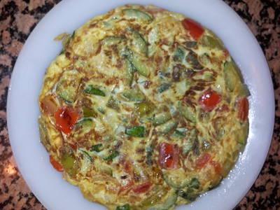 Tortilla de verduras saludable