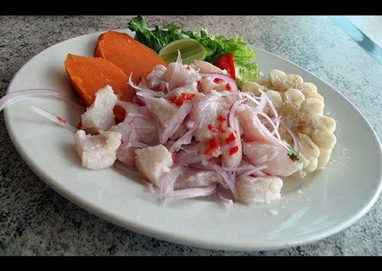 ceviche de pescado peruano receta