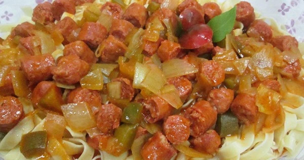 Salchichas rojas 67 recetas caseras cookpad for Cocinar huevos 7 days to die