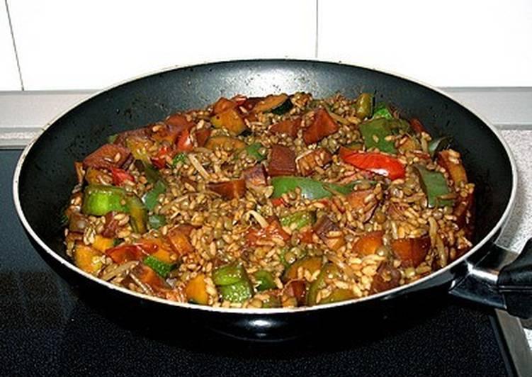Wok de verduras salteadas con lentejas y arroz receta de for Cocinar lentejas con verduras