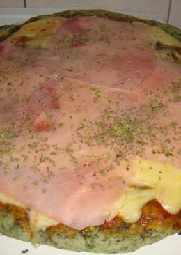 Masa de espinaca para pizza