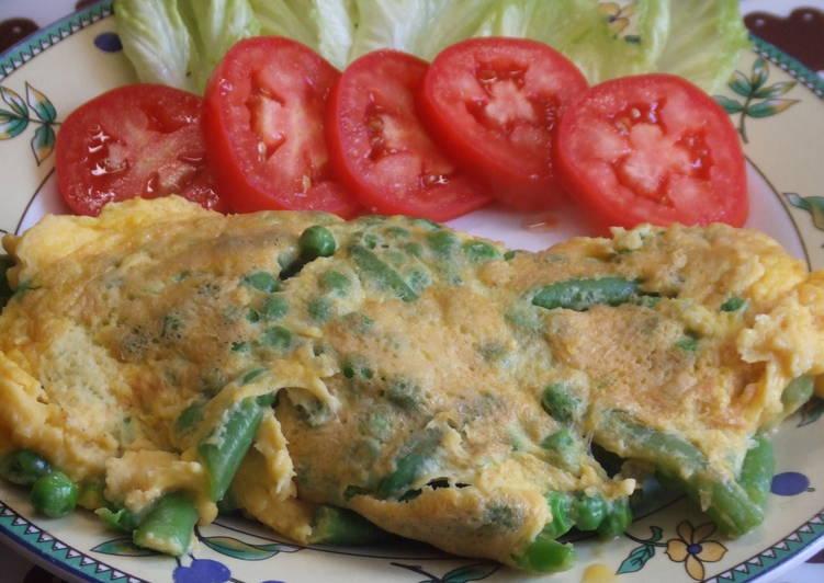Tortilla francesa con verduras y queso parmesano receta de for Verduras francesas