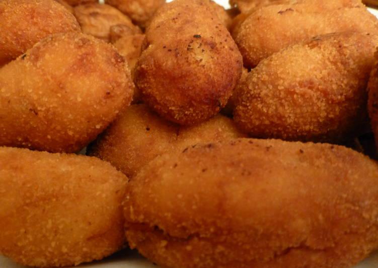 Croquetas de jamón ibérico y pollo