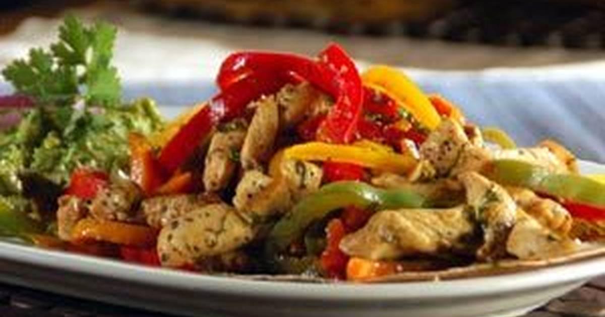 Fajitas de pollo con salsa teriyaki Receta de Winnyver