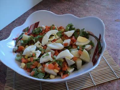 Ensalada con ingredientes de Invierno