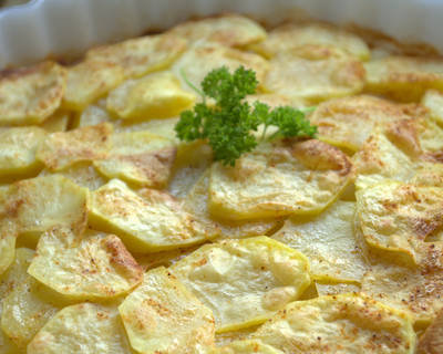 Patatas guarnición en Microondas