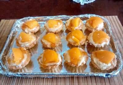 Tartaletas de melocotón facilitas y rápidas