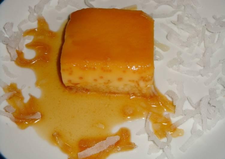 Flan de coco al ba o maria receta de penchi briones garcia - Envasar al bano maria ...