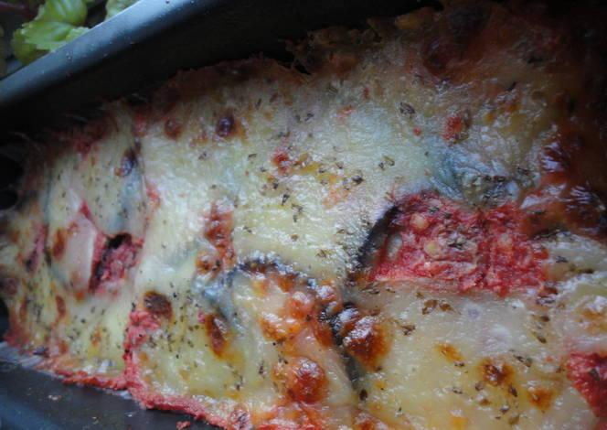 Pastel de berenjena asada con mozzarella receta de - Berenjenas con mozzarella ...