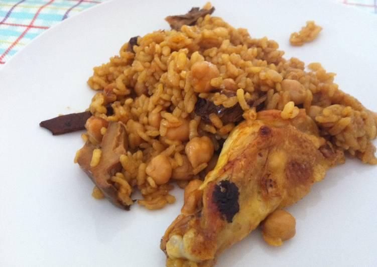 Arroz al horno con pollo y setas receta de marieta cookpad for Arroz con setas y trufa