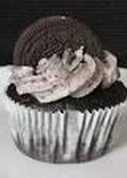 Cupcakes de galletas de chocolate