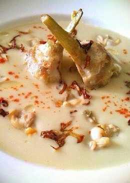 Crema de alcachofas con berberechos