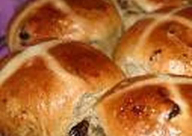 Hot Cross buns (pancitos con canela y pasas)