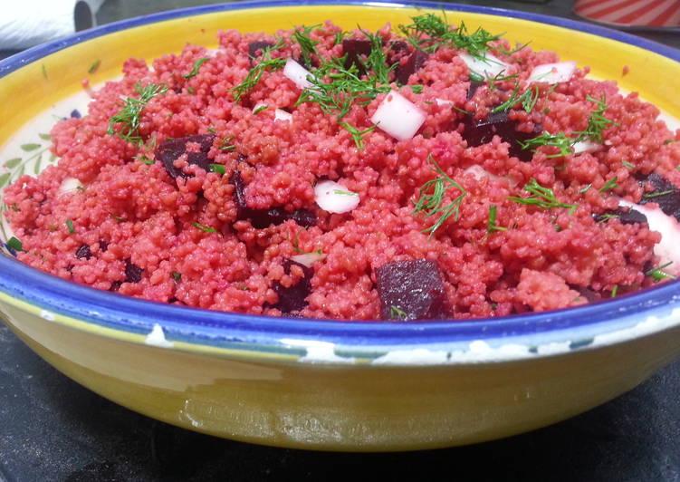 Ensalada de couscous red velvet