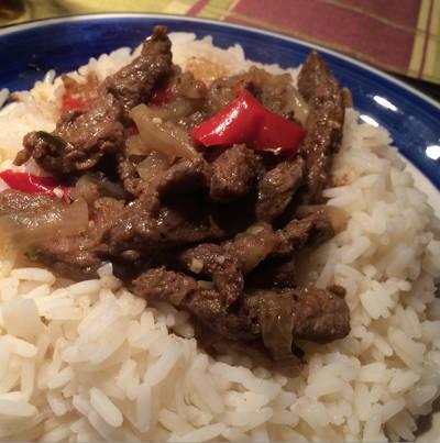 Carne asada marinada