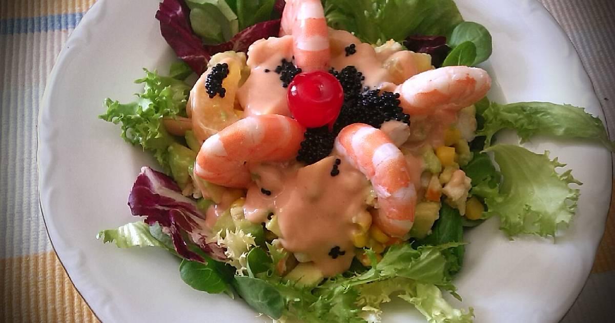Ensalada de marisco y frutas en salsa c ctel receta de josevillalta cookpad - Coctel de marisco ingredientes ...