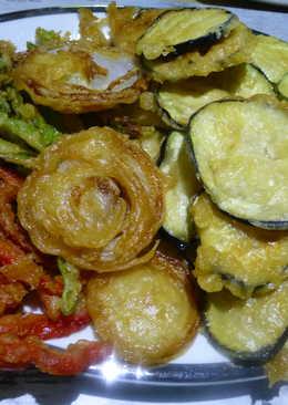 Verduras variadas en tempura