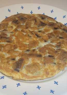Tortilla de esclatasangs y champiñones