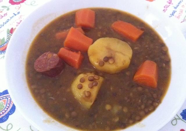 Lentejas con chorizo y patata receta de marieta cookpad - Lentejas con costillas y patatas ...
