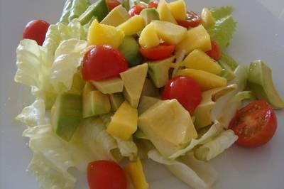 Ensalada tropical de mango y aguacate