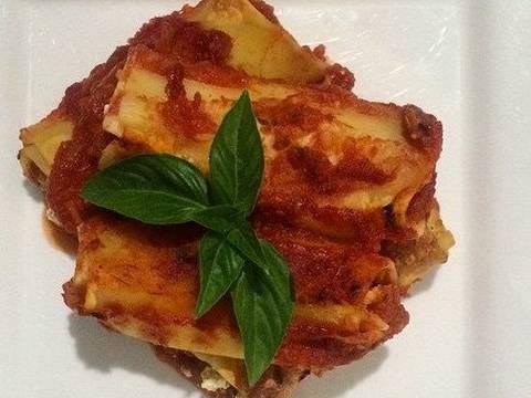 Foto del paso 7 de la receta Canelones rellenos de carne molida y queso crema