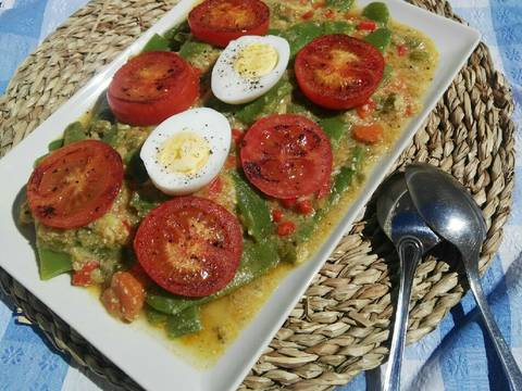 Foto del paso 18 de la receta Judías verdes con tomate y huevo