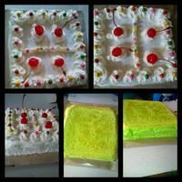Ogura Cake Pandan Super soft moist recomended