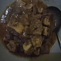 Kulit sapi masak kacang pedas #kitaberbagi