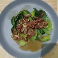 Baby pokcoy saus tiram tabur bawang putih