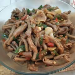 Foto Recook dari Tumis Usus Ayam pedas