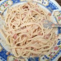 Spaghetti saus carbonara simpel